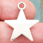 Puffed Star Charm Silver Pewter