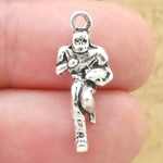 Football Player Charms Wholesale in Antique Silver Pewter