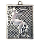 Rectangel Griffin Pendant in Antique Pewter