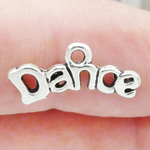 Word Dance Charm in Antique Silver Pewter