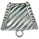 Giant Jewelry Bails Charm in Antique Silver Pewter with Beaded Accents