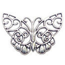 Filigree Butterfly Charm Antique Silver Pewter Medium