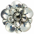 Beautiful Flower Pendant Antique Silver Pewter Large