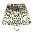 Giant Jewelry Bails Charm in Antique Silver Pewter with Floral Design