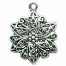 Medium Filigree Tibetan Silver Flower Charm