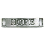 Charm Hope Connector in Silver Pewter
