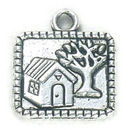 Home Charm in Antique Silver Pewter Large
