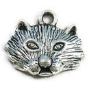 Animal Charm in Silver Pewter Cat Charm Small
