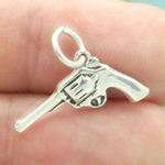 Pistol Charms Wholesale in Antique Silver Pewter