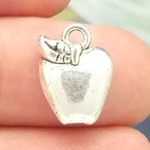 Apple Charm in Antique Silver Pewter