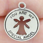 Guardian Angel Charms Bulk in Antique Silver Pewter