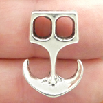 Anchor Charms Wholesale in Antique Silver Pewter Small Nautical Charm