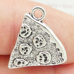 Pizza Slice Charm in Antique Silver Pewter