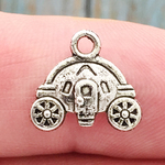 Cinderella Carriage Charm Silver Pewter