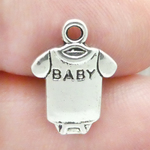 Baby Charms Wholesale in Silver Pewter