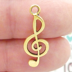 Treble Clef Charm in Antique Gold Pewter