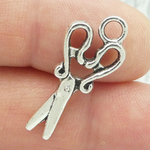 Scissor Charms Cheap Small in Antique Silver Pewter