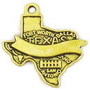 Texas Charm with Ribbon in Antique Gold Pewter