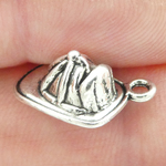 Firemans Helmet Charm in Antique Silver Pewter