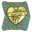 Love Heart Charm for Bead Stringing Bracelet Sliders in Pewter