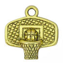Backboard Basketball Charm in Antique Gold Pewter