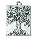 Tree of Life Charm Pendant in Silver Pewter Medium