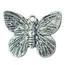 Butterfly Charm Antique Silver Pewter