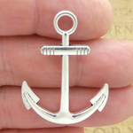 Anchor Charms Bulk in Silver Pewter Large