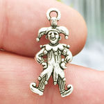 Jester Charms Wholesale In Antique Silver Pewter