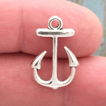 Small Anchor Charm Silver Pewter
