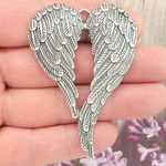 Silver Angel Wings Pendant for Sale in Pewter Large