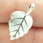 Small Leaf Charms Wholesale in Silver Pewter