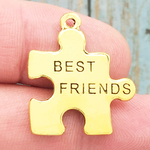 Gold Best Friend Charm in Pewter