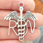 RN Caduceus Pendants Wholesale in Silver Pewter