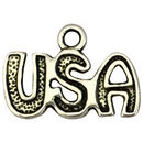 Silver USA Charm in Pewter
