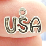 USA Charms Wholesale in Silver Pewter