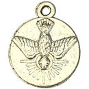 Silver Holy Spirit Medal in Pewter Tiny