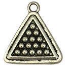 Silver Pool Billiard Charm in Pewter