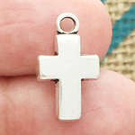 Silver Plain Cross Charms Bulk in Pewter