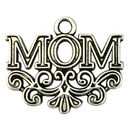 Antique Silver Mom Charm in Pewter