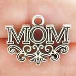 Mom Charms Wholesale in Silver Pewter