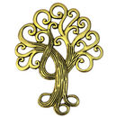 Gold Tree Pendant in Pewter