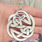 Celtic Knot Pendant Silver in Pewter Large