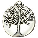 Silver Tree of Life Charm Wholesale in Pewter