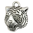 Silver Tiger Pendant in Pewter Small