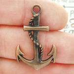 Anchor Charms Bulk Wholesale in Antique Copper Pewter