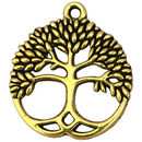 Gold Tree of Life Charm Pendant in Pewter