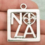 New Orleans Charm NOLA Silver Pewter