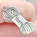Silver Yarn Charm in Pewter
