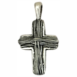 Silver Cross Charm Pewter